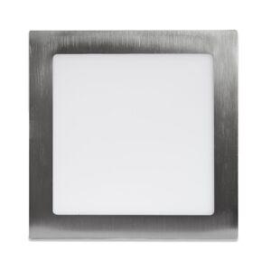 LED Solution Strieborný vstavaný LED panel hranatý 225 x 225mm 18W - VZORKA