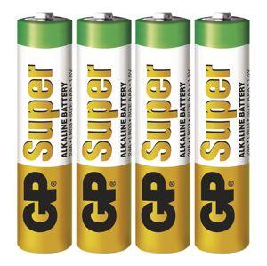 Alkalická batéria GP Super AAA (LR03), 4ks B1311