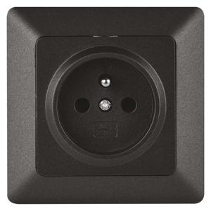 EMOS Zásuvka jednonásobná antracit A6001.2