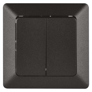EMOS Prepínač sériový č. 5 antracit A6100.6