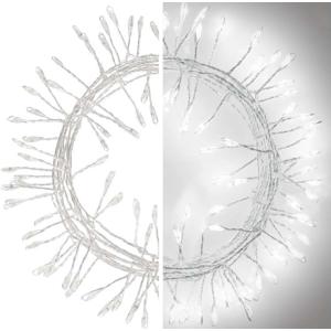 EMOS LED vianočný nano reťaz ježko studená biela 2,4m D3FC01
