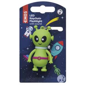 EMOS LED kľúčenka s motívom mimozemšťana P4712MIM