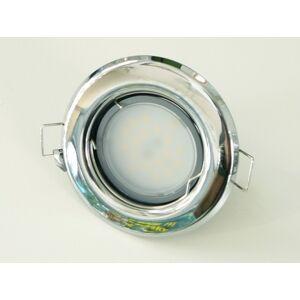 T-LED LED bodové svetlo do sadrokartónu 5W chróm 12V Farba svetla: Teplá biela