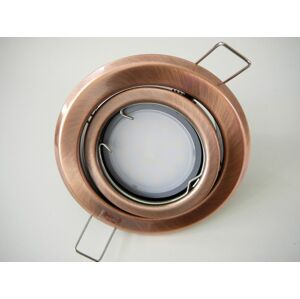 T-LED LED bodové svetlo do sadrokartónu 5W antik - meď 12V výklopné Farba svetla: Teplá biela