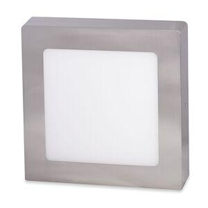 Ecolite Strieborný prisadený LED panel hranatý 300 x 300mm 25W Farba svetla: Denná biela LED-CSQ-25W/41/CHR