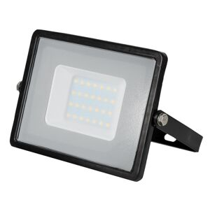 LED Solution Čierny LED reflektor 30W Premium Farba svetla: Studená biela 402
