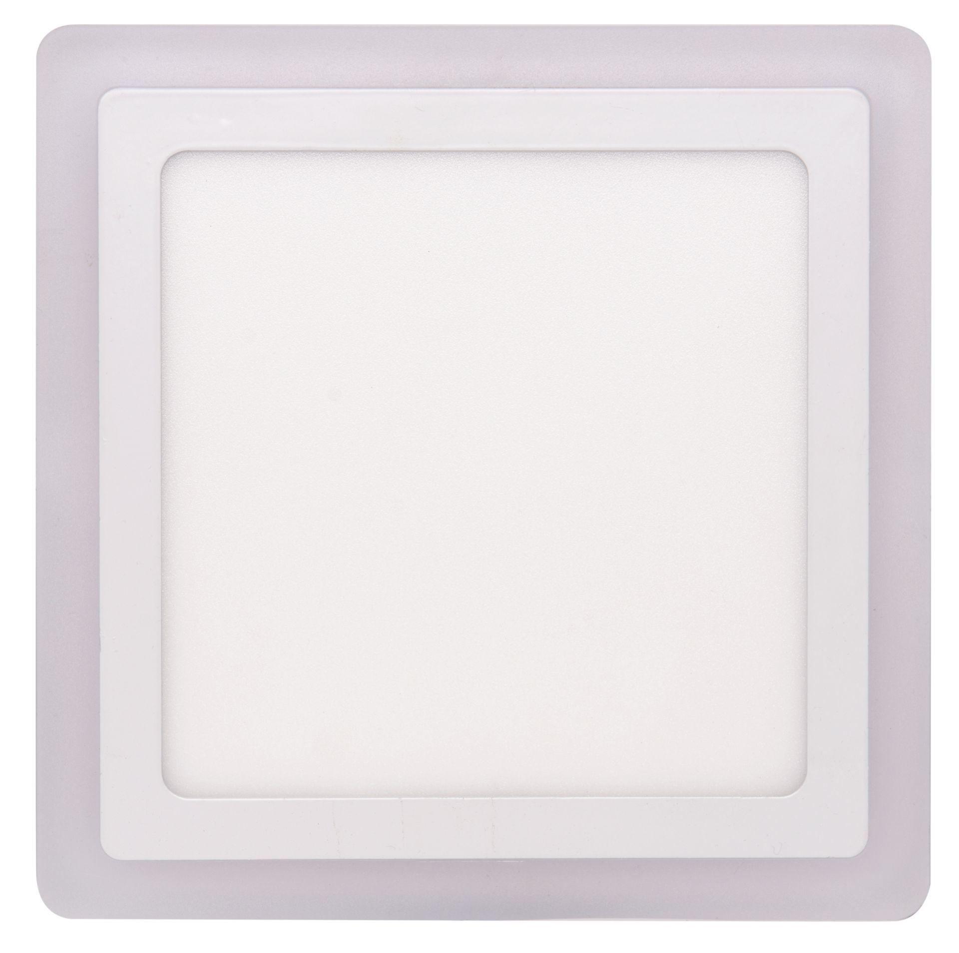 Ecolite Biely vstavaný LED panel hranatý 245 x 245mm 18W+6W podsvietený LED-DUO-S18W
