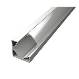 LED Solution Rohový profil pre LED pásiky R2 biely varianty: Profil + Nacvakávací čirý kryt 2m