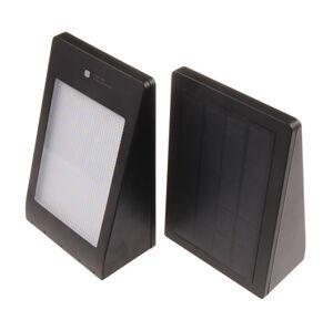 T-LED Solárne fasádne svietidlo s pohybovým čidlom čierne Farba svetla: Teplá biela