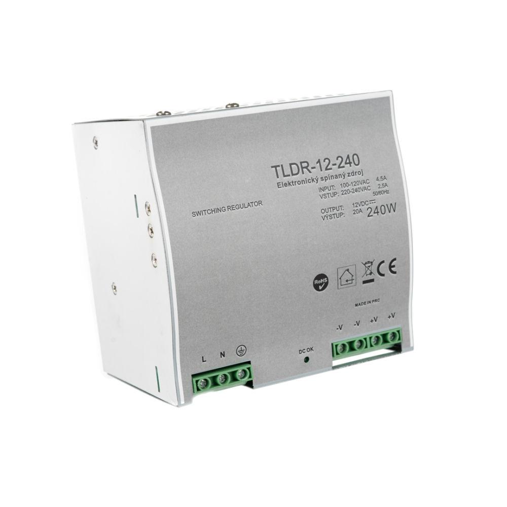 T-LED LED zdroj na DIN lištu 12V 240W